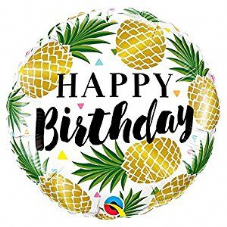 Happy Birthday Pineapple Foil Helium Balloon